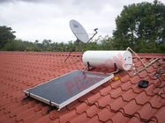 300L Thermal Flat Plate Collectors Solar Water Heating System 304 Inner Tank Blue Film