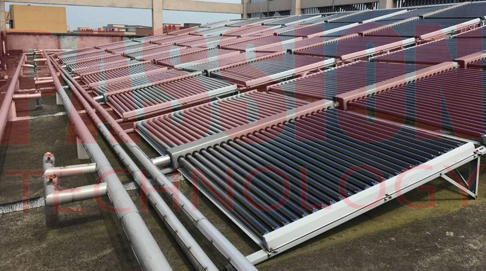 Horizontal Type Evacuated Tube Solar Thermal Collectors For Large Capacity Water Heating