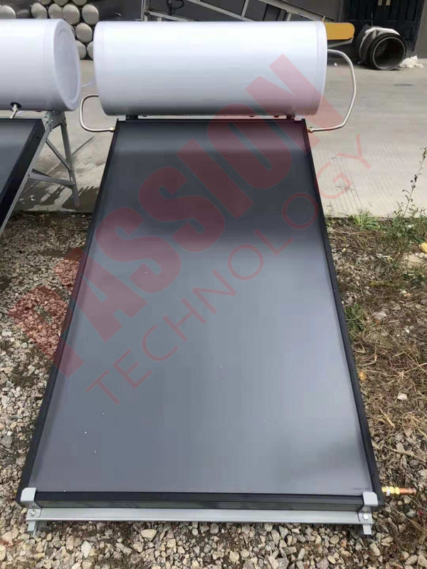 Blue Titanium Flat Plate Solar Water Heater , 100L 150L Solar Panel Hot Water Heater
